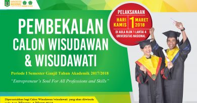 Pembekalan Calon Wisudawan & Wisudawati UNAS 2018