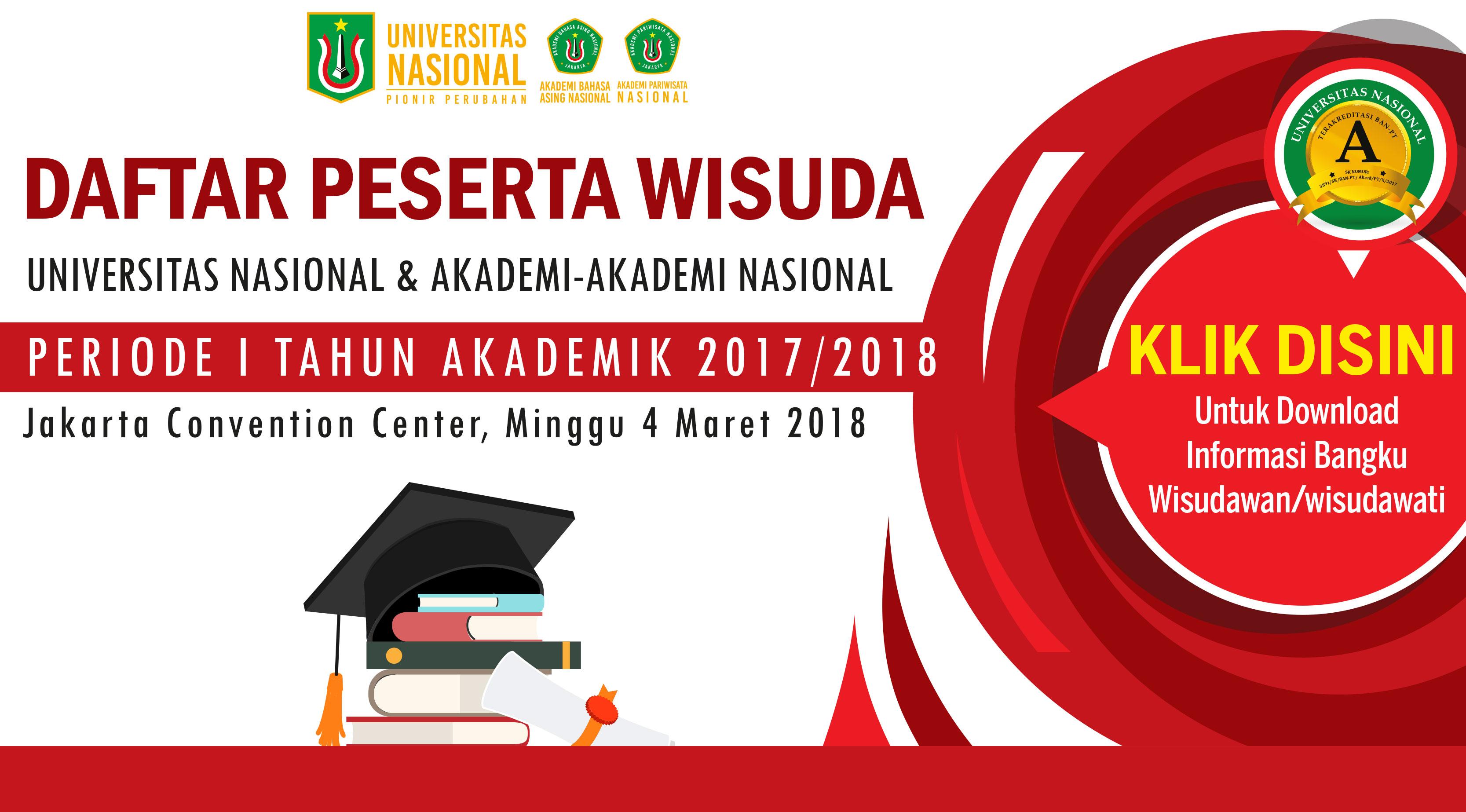Informasi Bangku Wisudawan Universitas Nasional Rmasi