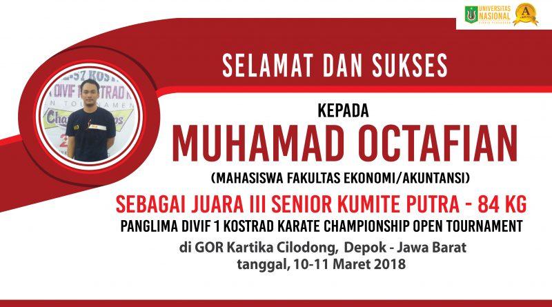 Mahasiswa UNAS Juara III Karate (Championships Open Tournament)
