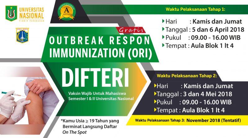 OUTBREAK RESPON IMMUNIZATION (ORI) DIFTERI