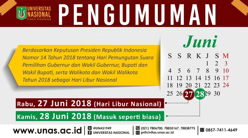 Hari Libur Nasional (Rabu, 27 Juni 2018)
