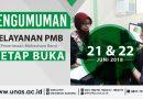 PENGUMUMAN PELAYANAN PMB UNAS TETAP BUKA (21 & 22 Juni 2018)
