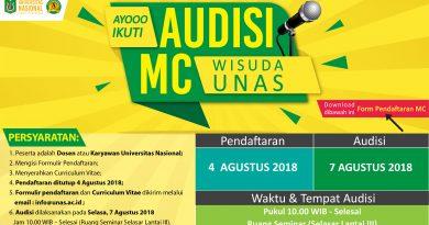 Audisi MC Wisuda Universitas Nasional 2018