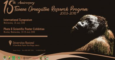 15 th Anniversary Tuanan Orangutan Research Program 2003-2018