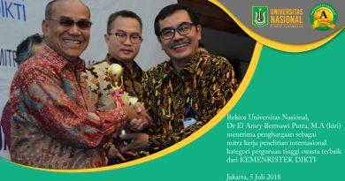 UNAS Raih Penghargaan Mitra Kerja Penelitian Internasional Kategori Perguruan Tinggi Swasta Terbaik