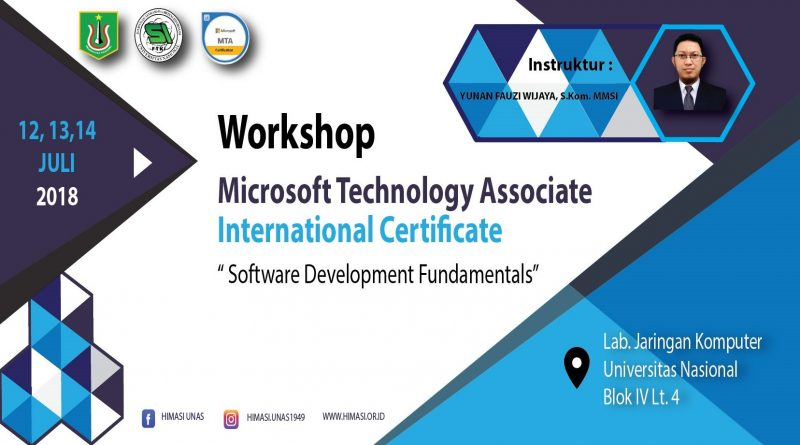 Workshop Microsoft Technology Associate International Certificate