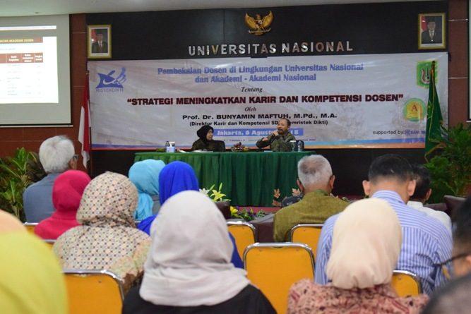 Tingkatkan Kualitas Dosen, UNAS Kembangkan Karier dan Kompetensi Dosen