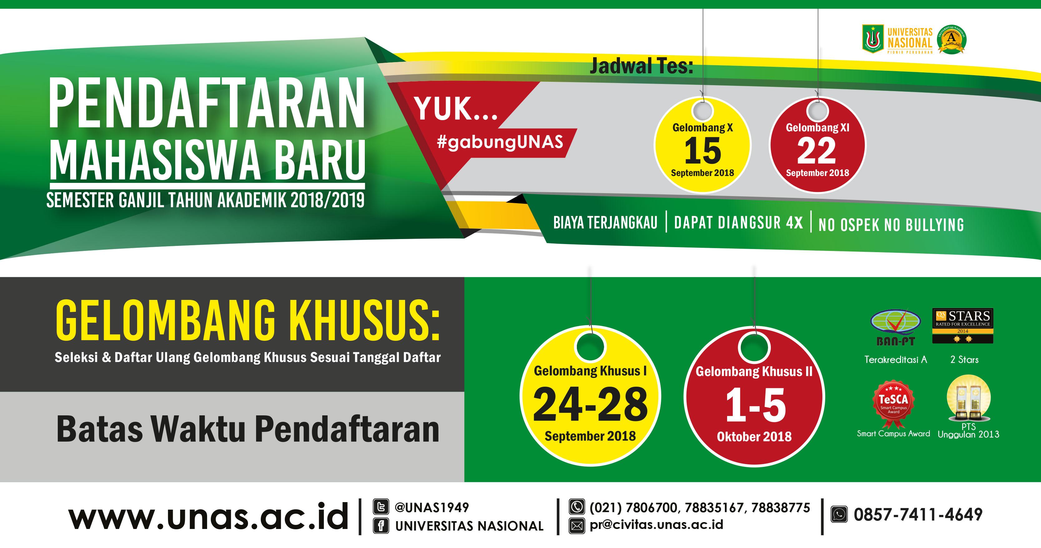 Web Banner Pendaftaran Maba Ganjil Unas