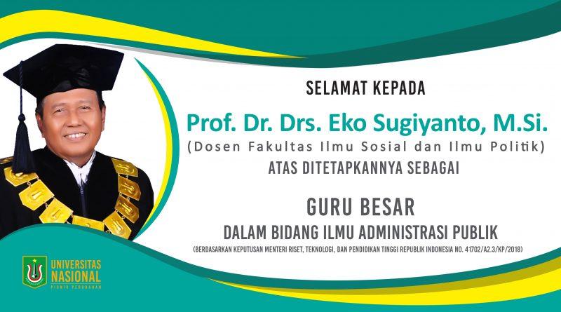 Guru Besar Universitas Nasional Dalam Bidang Ilmu Administrasi Publik
