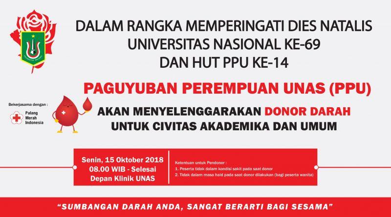 Donor Darah (UNAS) Oktober 2018