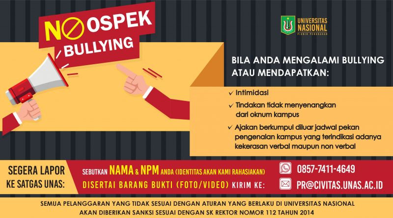 NO OSPEK NO BULLYING