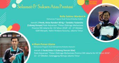 Mahasiswa UNAS Raih Juara dalam POM DKI Jakarta Cabang Olahraga Kempo & Pencak Silat