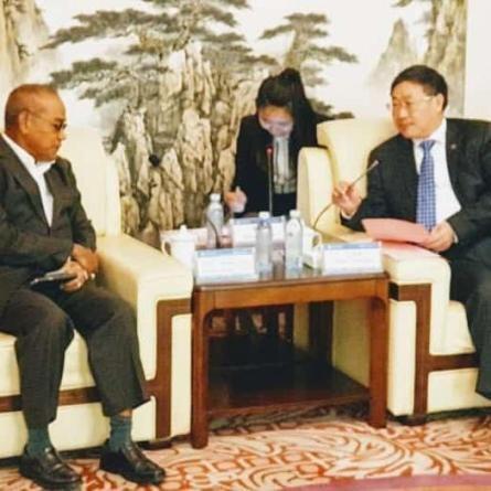 Rektor UNAS, Dr El Amry Bermawi Putera MA, Adakan kunjungan kehormatan dgn pimpinan tertinggi Guang Xi University for Nationalities Pada 25 Nov 2018