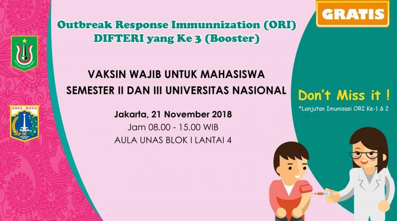 Suntik Difteri yang ke-3 di UNAS
