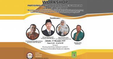 Workshop Partisipasi Masyarakat Dalam Pengawasan Lembaga Penyiaran (Prodi Ilmu Komunikasi UNAS)