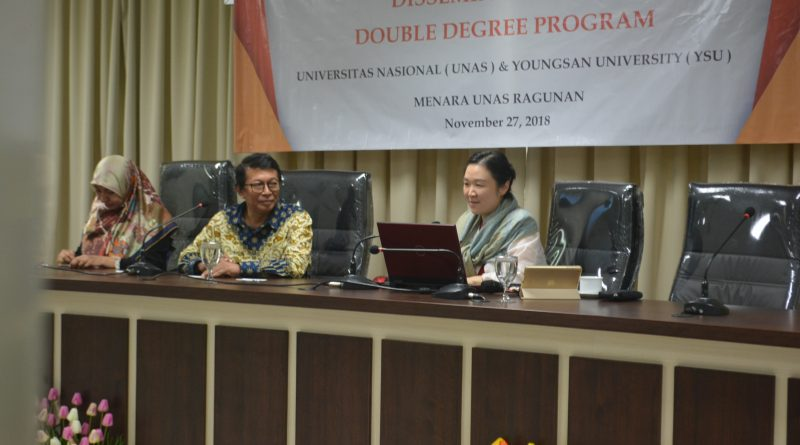 Fakultas Hukum UNAS-Youngsan University Diseminasi Double Degree Program