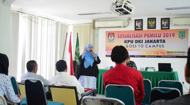 KPU DKI JAKARTA SOSIALISASIKAN PEMILU DIKAMPUS UNAS (8)