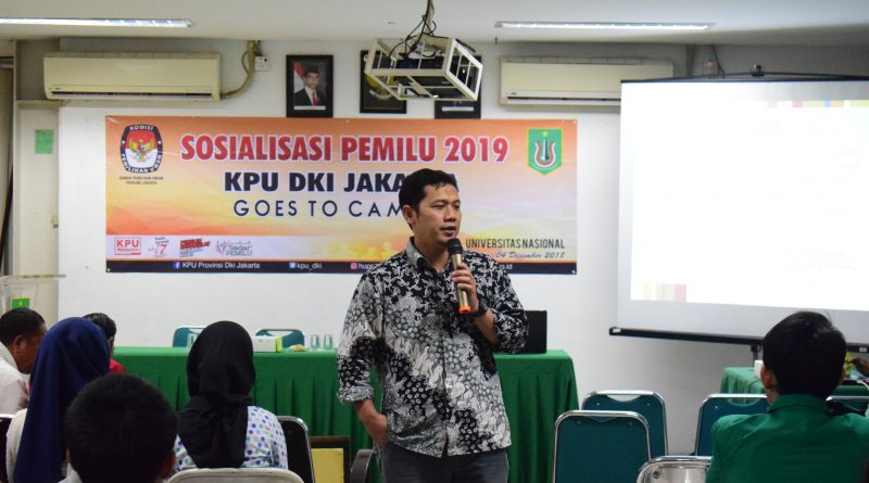 KPU DKI Jakarta Ajak Mahasiswa Berpikir Cerdas dalam PEMILU 2019