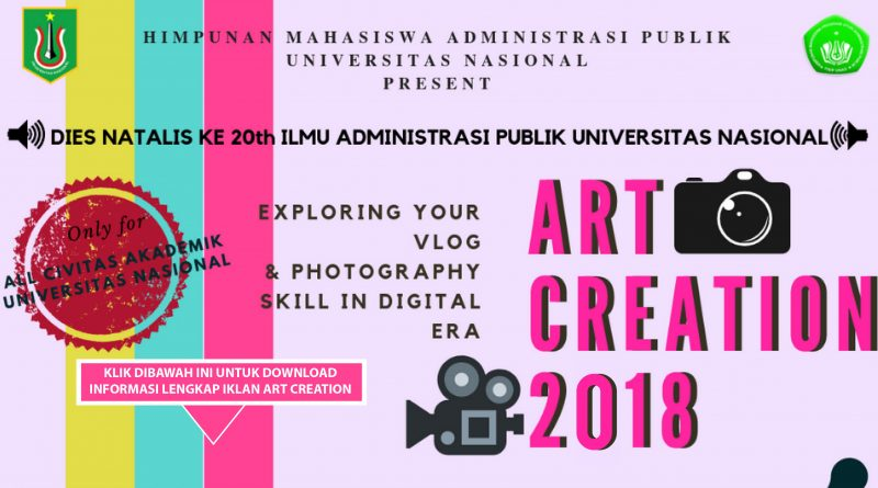 IKLAN ART CREATION 2018 HIMAPUBLIK UNAS