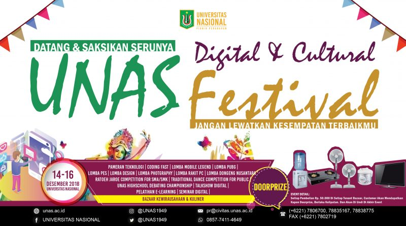 Let's Join Us on UNAS Digital & Cultural Festival