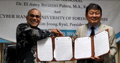 Penandatangan MoU UNAS – Hankuk University of Foreign Studies