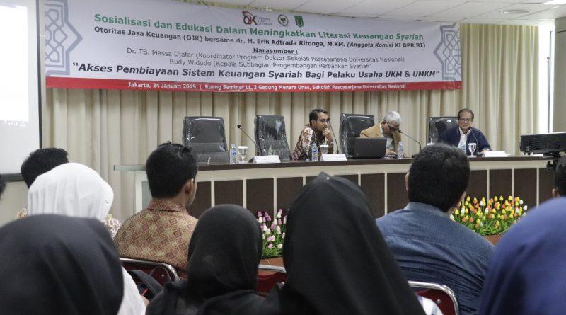Program Doktor Ilmu Politik Sekolah Pascasarjana Universitas Nasional gandeng Komisi XI DPR RI dan Otoritas Jasa Keuangan (OJK) adakan Seminar Keuangan Syariah