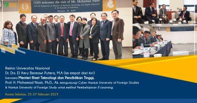 Kunjungan Rektor Universitas Nasional bersama MENRISTEK DIKTI Ke Cyber Hankuk University of Foreign Studies