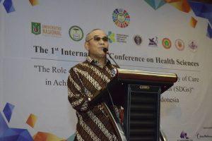 Dr.Drs. El Amry Bermawi Putera, M.A Rekor Universitas Nasional Memberikan Pidato pembukaan