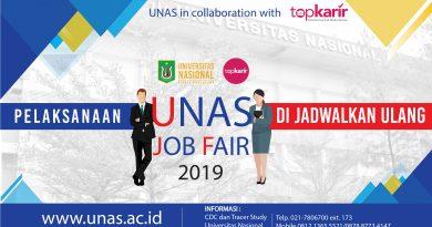 Pelaksanaan UNAS Job Fair 2019 di Jadwalkan Ulang