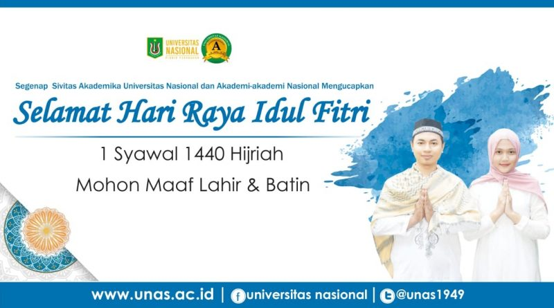 Selamat Hari Raya Idul Fitri 1 Syawal 1439 H_UNAS