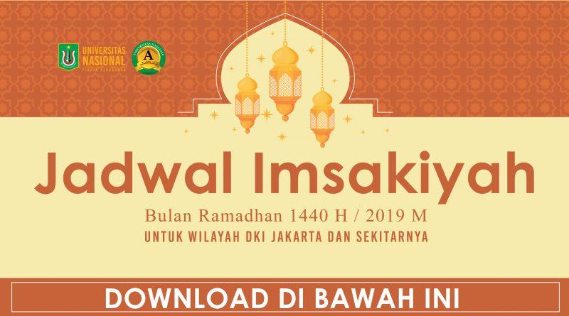 Jadwal Imsakiyah Bulan Ramadhan 1440 H / 2019 M