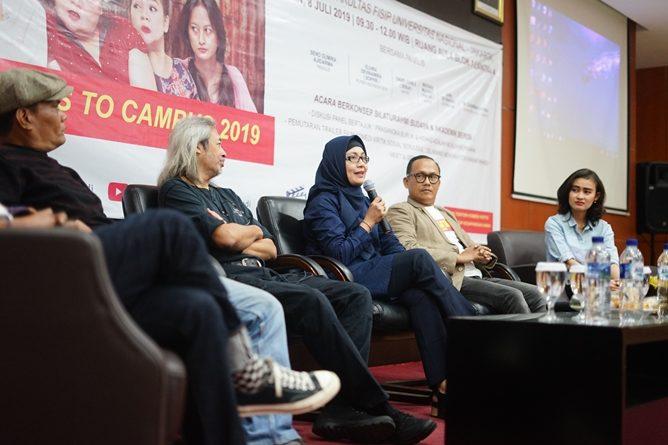 "Diskusi Panel tentang film ""Dilarang mandi dikamar mandi""di Aula Blok 1 lantai 4 UNAS, Senin (8/7)"