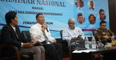 "Seminar Nasional ""Makar : Antara Kebebasan Berpendapat VS Penafsiran Hukum"", Senin (8/7) di Aula Blok 1 lantai 4 UNAS."