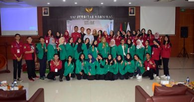 "Latihan Kepemimpinan Manajemen Mahasiswa (LKMM) ""Pelatihan Kepemimpinan dan Manajemen Mahasiswa Menyokong Kepemimpinan Bangsa Yang Berkarakter dan Beretika"" di Aula Blok 1 lantai 4 UNAS, Jum'at (20/7)"