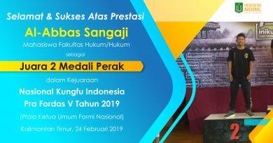 Prestasi Mahasiswa dalam Nasional Kungfu Indonesia Pra Fordas V Tahun 2019