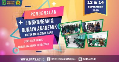 PLBA Untuk Mahasiswa Baru UNAS Semester Ganjil 2019/2020