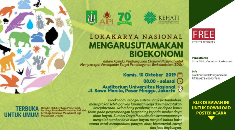 Lokakarya Nasional Mengarusutamakan Bioekonomi