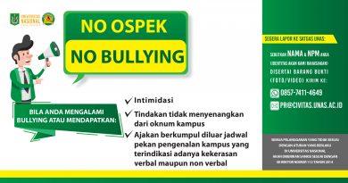 NO OSPEK NO BULLYING