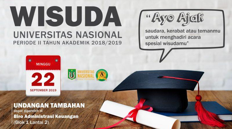 Undangan Tambahan Wisuda Periode II Tahun Akademik 2018/2019