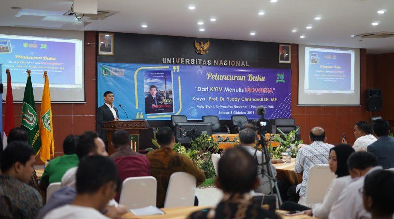 Suasana Pada Peluncuran Buku Karya Prof. Dr. Yuddy Chrisnandi SH, ME