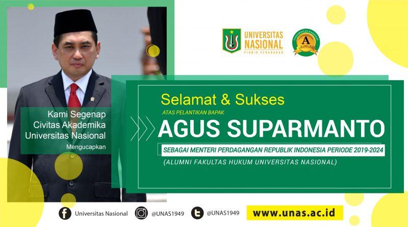 Alumni UNAS Menjadi Menteri Perdagangan Periode 2019-2024