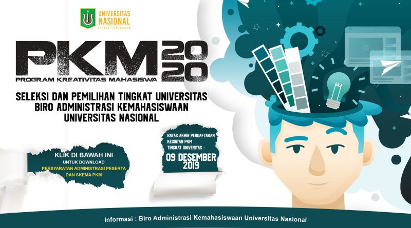 Program Kreativitas Mahasiswa UNAS 2020