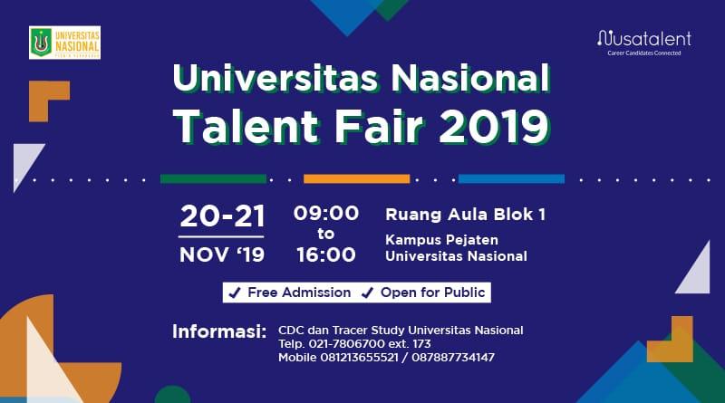 Universitas-Nasional-Talent-Fair-2019