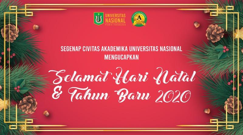 Selamat Hari Natal Dan Tahun Baru 2020 Universitas Nasional