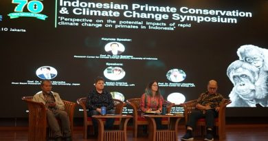 Diskusi Panel dalam acara Indonesia Primate Consevation and Climate Change