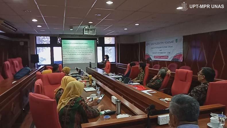 suasana kegiatan joint scientific seminar antara Unas dan UPM di Malaysia