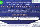 Seminar Nasional 2020 Adm. Publik UNAS