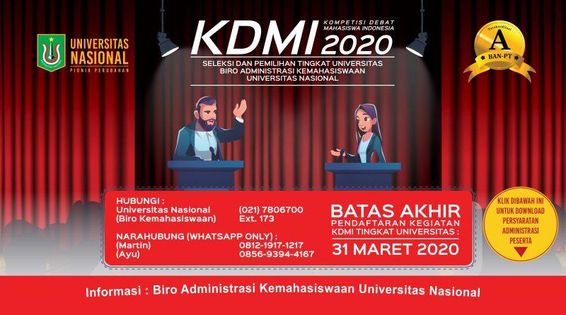 Kompetisi Debat Mahasiswa Indonesia 2020