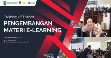 "Training of Trainer ""PENGEMBANGAN MATERI E-LEARNING"""