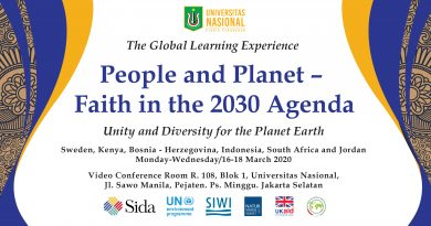 "The Global Learning Experience ""People and Planet-Faith in the 2030 Agenda"""